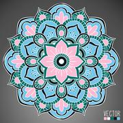 Stock Illustration of Mandala. Round Ornament Pattern