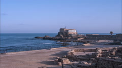 Sunrise in Caesarea, Timelapse Stock Footage