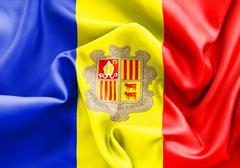 Andorra Flag Stock Illustration