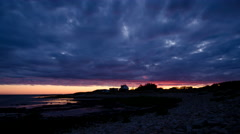 Colorful sunrise at the coast of Torekov in Sweden 29.97 FPS Stock Footage