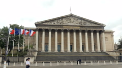 National Assembly in Paris, France Stock Footage