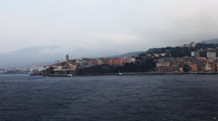 4K UltraHD Timelapse from a ferry leaving Bastia, Corsica Stock Footage