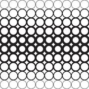 Abstract circles with a dedicated Central geometric background Stock Illustration