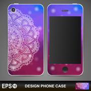 Stock Illustration of Phone case design