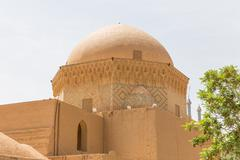 Ancient mosque in the old town of Yazd, Iran - stock photo