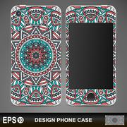Phone case design - stock illustration