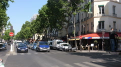 Street in Paris, France Stock Footage