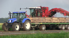 Tractor on a farm Stock Footage