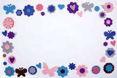 Felt embellishment frame Stock Photos