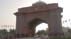 Abu dhabi main entrance in famous bay hotel 4k uae Stock Footage