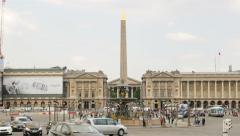 Place de la Concorde, Paris Stock Footage