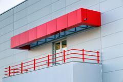 Aluminum facade on residential building Stock Photos
