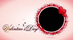 Valentines Day  & Wedding Special animated Video Frame - stock footage
