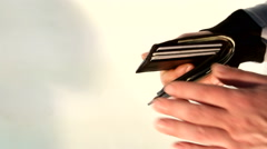 The transfer of money from hand to hand Stock Footage