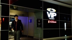 Vip cinemas entrance for vip member - stock footage