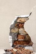 Stock Photo of destroyed wall