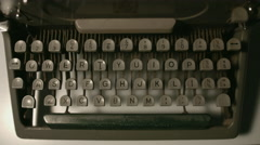 Overhead Writing On A Retro Typewriter Stock Footage