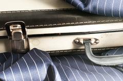 cardboard suitcase - stock photo