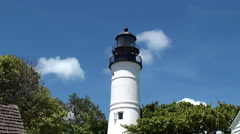 Key West Lighthouse. Florida, USA. Stock Footage