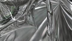 Abstract background 3d warped mirror reflections 9 Stock Footage