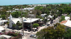 Key West Old Town from the top of lighthouse. Florida, USA. Stock Footage