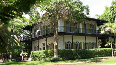 Ernest Hemingway Home & Museum. Key West, Florida, USA. Stock Footage