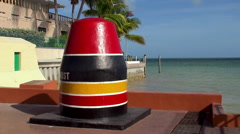 Monument of the southernmost point in the continental US. Key West, Florida Stock Footage