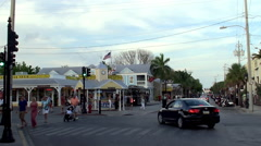 Types of Key West Old Town. Duval Street. Stock Footage