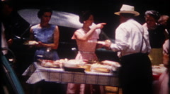 Stock Video Footage of 2234 - big family reunion picnic at the park - vintage film home movie