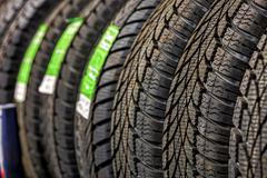 Car tires Stock Photos