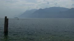 Lake Garda from Malcesine Stock Footage