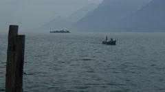 Lake Garda from Malcesine Stock Footage
