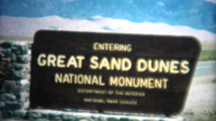 (8mm Vintage) 1966 Great Sand Dunes National Monument Colorado, USA Stock Footage