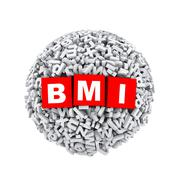 3d alphabet letter character sphere ball bmi Stock Illustration