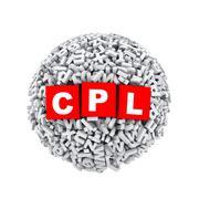 3d alphabet letter character sphere ball cpl - stock illustration