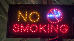 No Smoking Sign Stock Footage
