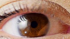 Close up human eye Stock Footage