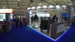 Stock Video Footage of Exhibition Centre in park Patriot