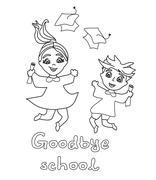 Happy graduation day. Stock Illustration
