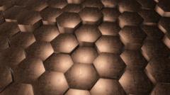 Hexagonal Bronze Background. Loop Stock Footage