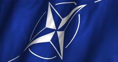Nato waving flag 4K Stock Footage