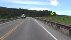 Drive POV Jackson Lake Dam Grand Tetons Wyoming 4K Stock Footage