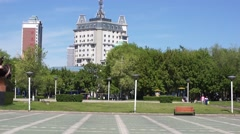 China Town Heihe Wansu Street View.m2ts Stock Footage