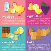 Baking, confection products - stock illustration