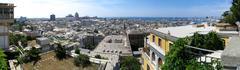 Aerial panorama of Genoa, Italy Stock Photos