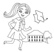 Stock Illustration of Bay Bay School