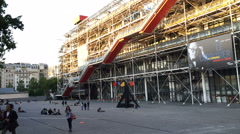 Centre Georges Pompidou timelapse Stock Footage