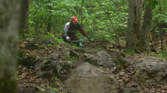Rock Riding - Extreme Sport Mountain Biking - stock footage