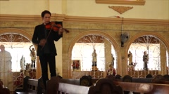 Stock Video Footage of Wedding Violinist standing