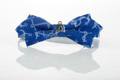 Stock Photo of blue bow tie with anchors
